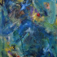 Linnea_Toney_Leeming_Blue_Rhapsody_40X30_Acrylic_on_canvas