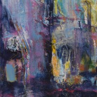 Linnea_Toney_Leeming_Le_Marais_36X12_acrylic_and_mixed_media_on_canvas